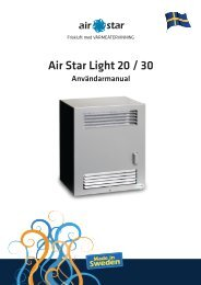 Air Star Light 20 / 30 - Air Star AB