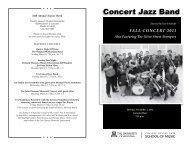 Concert Jazz Band - School of Music