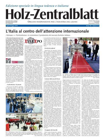 Auch am »Salone  Internazionale del Mobile - Holz-Zentralblatt
