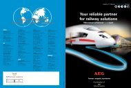 Your reliable partner for railway solutions Power Systems