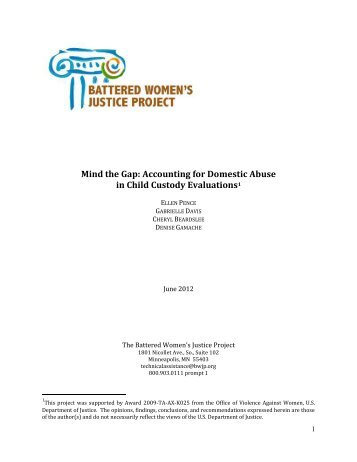 Mind the Gap: Accounting for Domestic Abuse in Child Custody ...