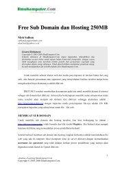 Free Sub Domain dan Hosting 250MB