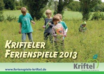 Krifteler Ferienspiele 2013 - Vereinsring Kriftel