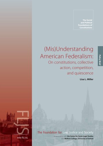 (Mis)Understanding American Federalism: - Foundation for Law ...