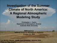 Investigation of the Summer Climate of North America: A Regional ...