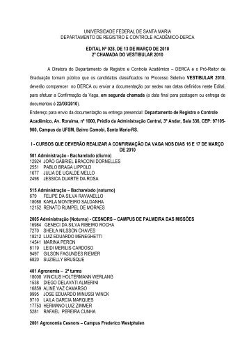 UNIVERSIDADE FEDERAL DE SANTA MARIA ... - Coperves - UFSM