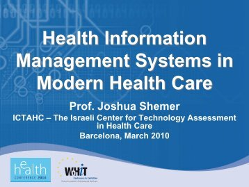 Health Information Management Systems in ... - World of Health IT