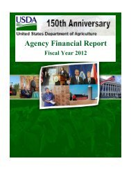 Fiscal Year 2012 Agency Financial Report - US Department of ...