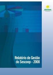 Relatório de Gestão do Sescoop - 2008