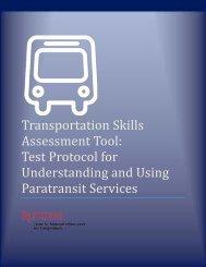 Transportation Skills Assessment Tool: Test Protocol for ... - CAIT