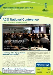 ACO NEWSLETTER NO.7:ACO NEWSLETTER - Ecb