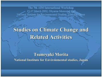 Studies on Climate Change and Related Activities
