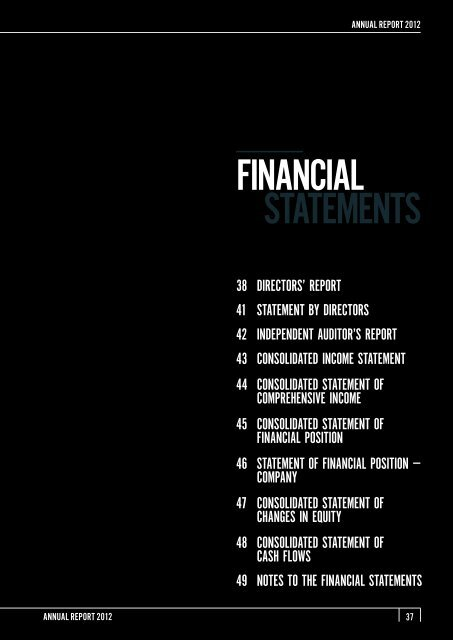 FINANCIAL STATEMENTS - Mewah Group
