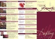 Jahresprogramm 2005 - Kirchenmusik an der Dreifaltigkeitskirche ...