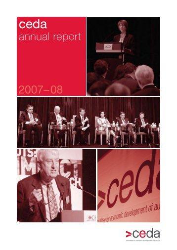 2007-08 annual report - Ceda
