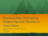 Ebookmobile: Delivering Subject-Specific Ebooks to Your Inbox