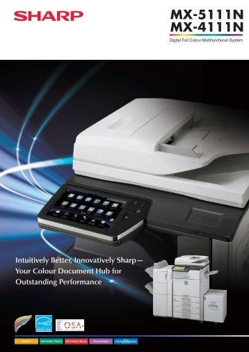 MX4111N Brochure - Sharp Corporation of Australia