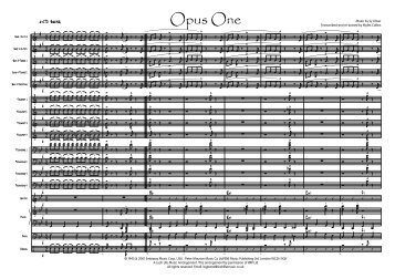 Opus One Published Score - Lush Life Music