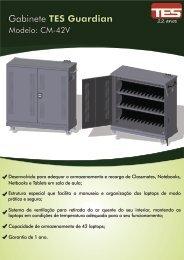 Folheto Gabinete Recarga Notebooks TES Guardian CM-42V