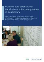 Manifest zum öffentlichen Haushalts - Wegweiser Kommune