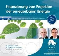 Finanzierung von Projekten der erneuerbaren Energie