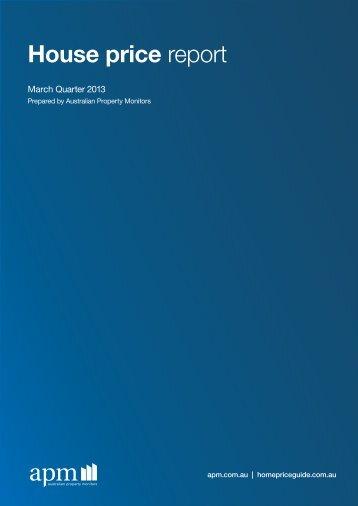 Mar 2013 - House Price Report - Domain.com.au
