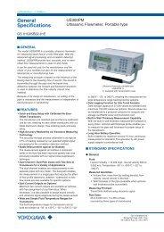 US300PM Ultrasonic Flowmeter, Portable type - Yokogawa