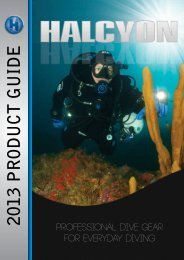 Download the Halcyon 2013 Catalogue in PDF format. - Ocean Divers