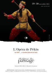 L'Opéra de Pékin - Théâtre du Passage
