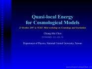 Quasi-local energy for cosmology
