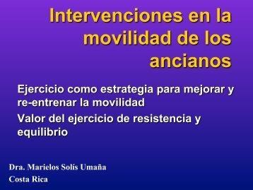 Intervenciones en la movilidad de los ancianos. Marielos Solís Umaña