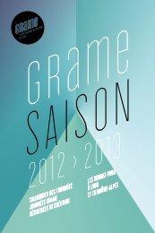 Saison Grame 2012 / 2013