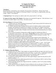 St. Stephen the Martyr Board of Education Minutes September 20 ...
