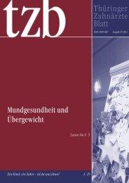 Thüringer Zahnärzteblatt 05/2011 - Zahnärzte in Thüringen