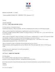 Référence du BOAMP : 11-156637 - Annonce publiée le ... - Tarascon