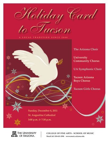 the Arizona Choir university Community Chorus ... - School of Music