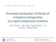 Premixed combustion of blends of n-heptane and gasoline in a rapid ...