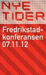 Program Fredrikstadkonferansen 2012 - Fredrikstad 2015