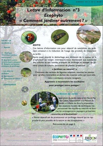 Lettre Info JA n°3 - DRAAF Nord-Pas-de-Calais