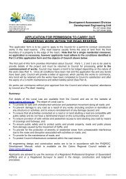 Carry Out Engineering Work within the Road Reserve - Local Law 22