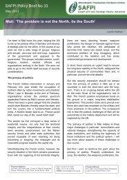 SAFPI Policy Brief 33