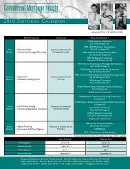 2010 editorial calendar - Commercial Mortgage Insight