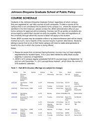 Johnson-Shoyama Graduate School of Public Policy COURSE ...