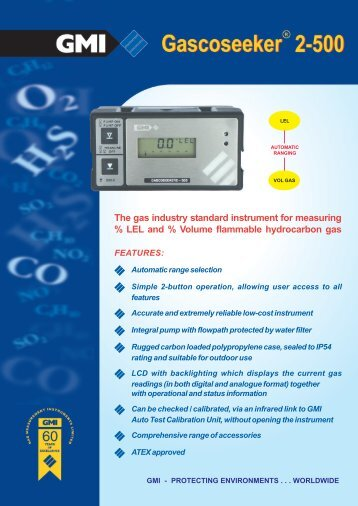 The gas industry standard instrument for measuring % LEL and ...