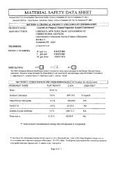 All Purpose Cleaner Degreaser MSDS Sheet - Corcraft
