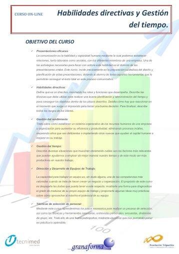 Ficha técnica Habilidades directivas - Tecnimed