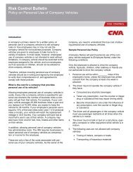 Policy on Personal Use of Company Vehicles - CNA