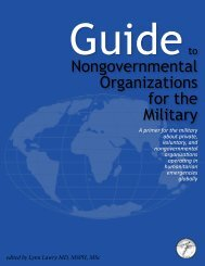 Guide to Nongovernmental Organizations for the Military