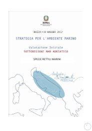 4.3.3 Mar Adriatico - La strategia marina - Ispra