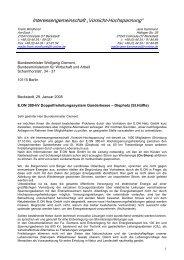 Brief - Interessengemeinschaft Vorsicht Hochspannung